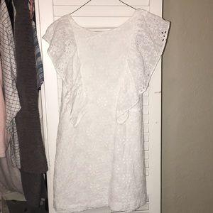 White Detailed Zara Girls Dress